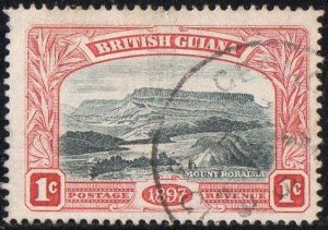 British Guiana 1898 1c blue-black and carmine-red (QV Jubilee) used