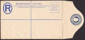 TURKS & CAICOS GV 2d registered envelope unused............................67566