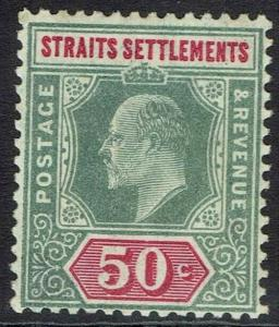 STRAITS SETTLEMENTS 1904 KEVII 50C WMK MULTI CROWN CA