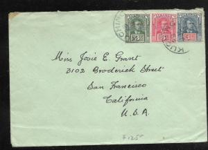 SARAWAK (P0110B)   1928 COVER 6C+3C+1C TO USA