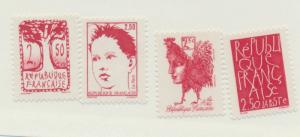France Scott #2307 To 2310, Paintings by Contemporary Artists Issue From 1992...