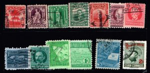 CUBA STAMP USED AIR MAIL STAMPS LOT #1