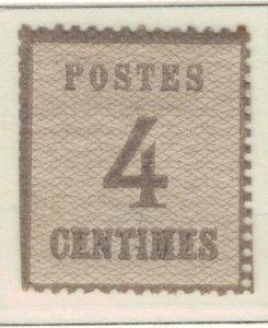 France (German Occupation of Alsace) Stamp Scott #N10, Mint Hinged, Original ...
