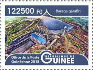 Guinea - 2019 Landscapes Garafiri Dam - Stamp - GU1801local05a