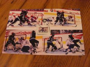 Canada Picture Postage Hockey Goal -- Winnipeg Jets Scores on Carey Price #31