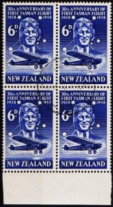 New Zealand. 1958 6d (Block of 4) S.G.766 Fine Used