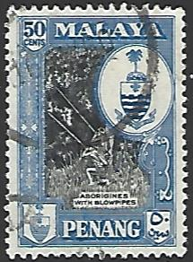 Malaya Penang #63 Used Single Stamp