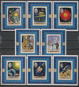 Ajman, Mi cat. 991-998 C. Space Personalities issue as Deluxe s/sheets.