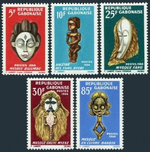Gabon 188-192,MNH.Michel 238-242. Negro Art Festival 1966.Figures,Masks.