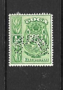 TONGA  1920-24   1/2d   PICTORIAL   MH  PERF SPECIMEN      SG 55s