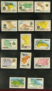 VENEZUELA C1035-48 MNH SCV $11.15 BIN $6.00 MAPS