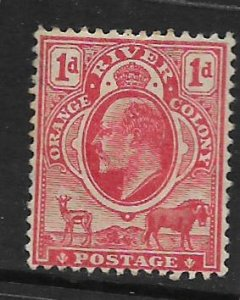 ORANGE RIVER COLONY, 71, HINGED, KING EDWARD VII