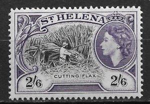 1953 St Helena 150 Cutting Flax 2sh6p MH