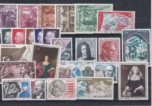 Monaco 1972-73 Mounted Mint +Used Stamps Ref: R7294