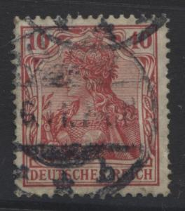 GERMANY. -Scott 68- Definitives -1902 - Used - Carmine - Single 10pf Stamp3