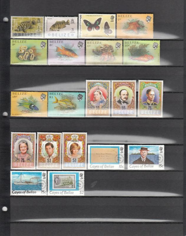 BELIZE 20 DIFFERENT MINT 312/CAYES 21 SEE DESCRIPTION AREA 2014 SCV $13.75