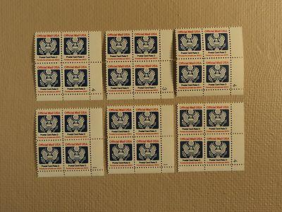 USPS Scott O138 14c Postal Card Rate D 1985 Lot Of 6 Plat...
