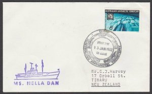AUSTRALIA ANTARCTIC 1972 cover ex Davis Base - MS Nella Dan ship cachet.....L957