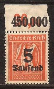 Germany  #  242  Mint  numeral  single