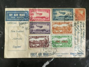 1935 Timaru New Zealand Abandoned Jubillee Flight to England Stamps # C1 C3-4