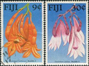 Fiji 1988 SG782-783 Native Flowers part set FU