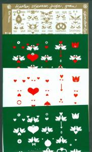 Denmark. Christmas Seal 1989.Comp. Set 5 Sheet. Scale/Proof Print. Imperforated