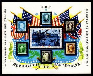 Upper Volta - Cancelled Souvenir Sheet Scott #358 (American Bicentennial)