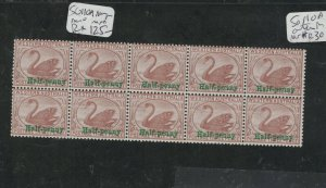 Western Australia SG 110a Block of Ten see description MNH (11dkb)