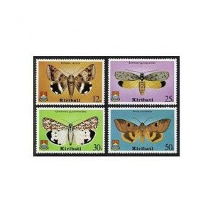 Kiribati 356-359,MNH.Michel 354-357. Butterflies 1980.Achaea Janata,Ethmia,Anua