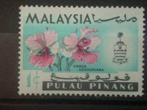 PENANG, 1965, MH 1c, Orchids, Scott 67