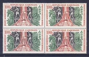Gabon Scott C2 Mint NH block (Catalog Value $18.00)