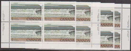 Canada - 1981 $1 Fundy Plate 2 Blocks VF-NH #726a