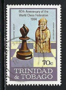 TRINIDAD & TOBAGO 409 VFU CHESS 921F-1