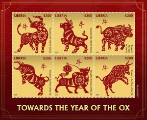 Stamps of LIBERIA 2020 - TOWARDS THE YEAR OF THE OX