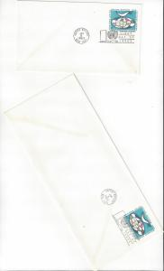 United Nations New York U 4 & 4A FDC 2 Covers