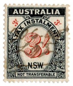 (I.B) Australia - NSW Revenue : Tax Instalment 3/-