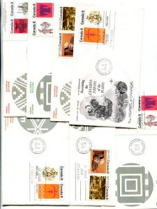 Canada  6  different FDC  native Indians  all  unaddressed  VF