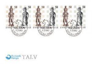 French Polynesia, Worldwide First Day Cover, Chess