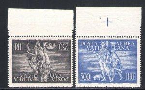 1948 Vatican Mail Aerea Tobia N°16/17 2 Values MNH Centred Border Alto