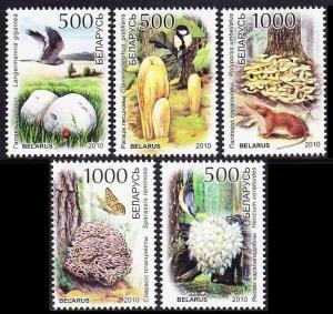 2010 Belarus 828-832 Mushrooms / Fauna 3,50 €