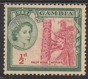 Gambia, Sc 153, MNG, 1953, Queen Elizabeth II