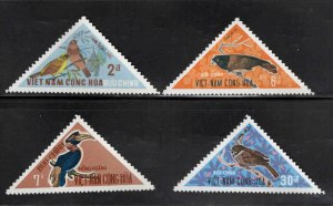 South Vietnam Scott 364-367 MNH** Bird set CV$22