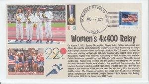 6° Cachets Tokyo 2020 Olympics Gold Medal Team USA Women's 4X400 Relay