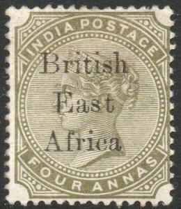BRITISH EAST AFRICA-1895-96 4a Slate-Green Sg 55b MOUNTED MINT V42919