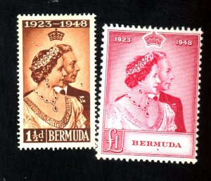 BERMUDA #133-4 MINT F-VF OG HR Cat $50