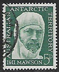Australian Antarctic Territory # L7 - Sir Douglas Mawson - Used....(KlBl9)