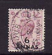 Oman-Sc#22- id5-used 6 annas KGVI-