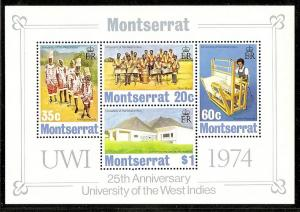 Montserrat  305a MNH 1974 Masqueraders Sheet