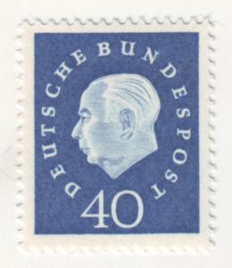 J67 jls stamps 1959 germany mh hv of set heuss 40pf