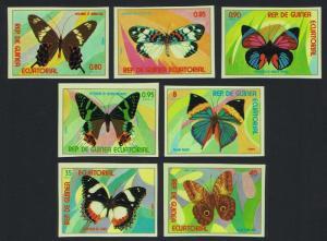 Eq. Guinea Butterflies 7v imperf MI#1025-1031